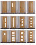 Puertas de madera modernas con el vidrio