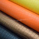 Litchiの穀物人工的なPUの革、織り目加工の靴革