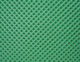Banda transportadora verde del PVC con el modelo del diamante