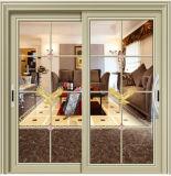 Раздвижная дверь 2 следов алюминиевая с двойным стеклом для виллы