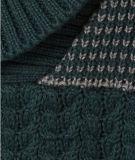 Strickjacke-Kabel des Kindes strickte mit Schal-Muffe für Jungen