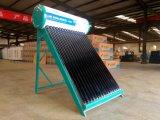 インドの真空管の太陽給湯装置