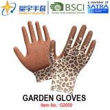 Перчатки сада, перчатки работы безопасности отделки Crinkle латекса Polyestershell печатание покрытые (G2000) с CE, En388, En420
