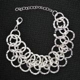 女性の方法宝石類のための3つのカラー金属のチェーンブレスレット