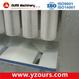 Terminar el polvo de aluminio que cubre la línea vertical