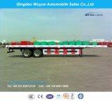 Semirimorchio a base piatta del tester resistente Suspension12.5 dell'asse in tandem con la rete fissa ed il palo per trasporto di contenitore o del carico all'ingrosso