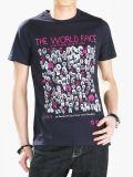 Concevoir votre propre T-shirt fait sur commande d'hommes de vente en gros de mode de coton de logo