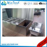 Supporto del contenitore di ingrediente dell'acciaio inossidabile con il divisore degli ss