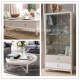 Module moderne en bois blanc de salle de séjour (RG1504)