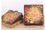 Boîte de papier à pizza d'impression, ventes en gros de empaquetage de boîte à pizza de papier de coût bas