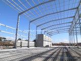 GIフレームが付いている電流を通されたプレハブの鉄骨構造の倉庫