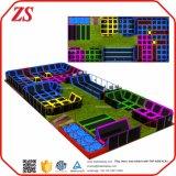 Gimnasia comercial de interior modificada para requisitos particulares talla grande del trampolín con obstáculos