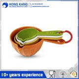 Cucchiaio multicolore del tè di qualità della melammina di marchio su ordinazione