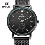 Riem van de van Bedrijfs belbi Horloge van de Mensen het Uiterst dunne van het Staal met Manier Twee de Halve Vertoning van de Speld