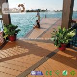 Decking compuesto de la instalación del efecto rápido de madera sólida para el jardín