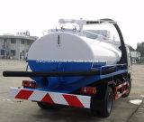 Pequeño carro fecal de la succión de 4X2 Forland 3 toneladas de las heces de vacío de carro del tanque