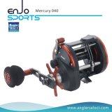 Seleccione pescador Mercurio plástico cuerpo / 3 + 1 Bb / EVA Right Manija Mar Trolling carrete de la pesca Equipos de pesca (Mercurio 040)