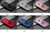 赤いiPhone PUのリングのグリップは懸命に衝撃吸収性の豊富な対レーダー携帯電話箱かカバーを支持する