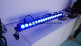Wasserdichtes IP 65 18X15W RGBWA+UV 6 in 1 LED-Wand-Unterlegscheibe-im Freienlicht
