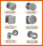 Moderne en acier inoxydable Big Door Stopper avec anneau en caoutchouc