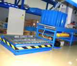 Plataforma estacionária do elevador hidráulico do armazém com tabela de rolo