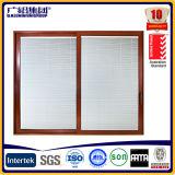 Fenêtre coulissante vitrée en verre trempé en aluminium avec écran