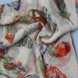 De rode Sjaal van de Druk, de Toebehoren van de Manier van de Sjaal van de Polyester van Vrouwen