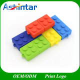 USB2.0 / USB3.0 de plástico USB Disk Building Block Forma USB Flash Drive