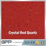 Plak van de Steen van het Kwarts van het kristal de Rode Kunstmatige voor de Tegels van de Vloer van de Keuken