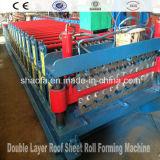 大きい力カラー機械装置を形作る鋼鉄波形の屋根のパネルロール