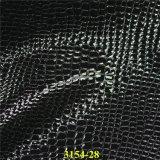 Cuero material de la PU del grano del cocodrilo de los complementos para el calzado, bolsos