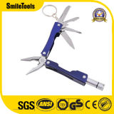 alicates del bolsillo del acero inoxidable de 6-in-1 Multitool con la luz brillante del LED