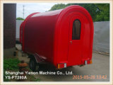 Ys-FT280A Red Multifunction Fast Food Trailer com janela deslizante