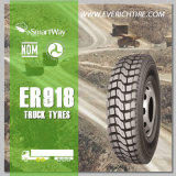 neumáticos del acoplado 9.00r20 todos los neumáticos del funcionamiento de los neumáticos del anuncio publicitario de los neumáticos del terreno