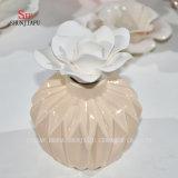 Sostenedor de cerámica de la fragancia de Tealight del difusor de Aromatherapy de la hornilla con Flower/a