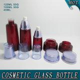 De nieuwe Fles van de Container van de Room van het Glas van de Manier Donkerrode Kosmetische Verpakkende