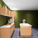 De aangepaste Keukenkasten van de Lak van het Type van Eiland Glanzende met de Kasten van de Muur