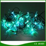 30 la cadena de la energía solar de la libélula del LED 6m enciende la lámpara impermeable para de interior al aire libre
