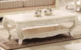 Strato di legno antico americano del sofà classico del tessuto con l'insieme della Tabella