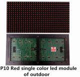 Única tela ao ar livre do módulo do diodo emissor de luz do vermelho P10 para o indicador do texto