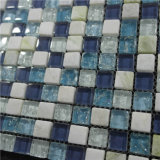 Varia mezcla de cristal del mosaico de la piscina del uso del color azul