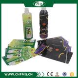 Étiquette de rétrécissement de fournisseur d'or pour la bouteille d'eau minérale