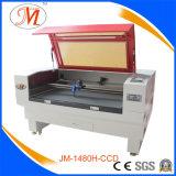 Hoch-Standardausschnitt-Maschine laser-100W mit Wasser-Kühler (JM-1480H-CCD)