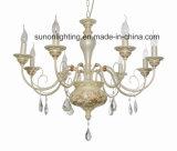 3 lâmpadas decorativas da luz/pendente do candelabro do ferro de cristal europeu claro