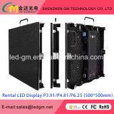 6,25 mm Pantalla LED para alquilar, 2k Super Clear, frente abierto de mantenimiento, 500 mm * 500 mm, ultra delgada, alta Refresh