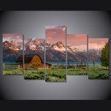 HD напечатало горы Teton амбара утесистые крася на изображении Mc-040 плаката печати украшения комнаты холстины