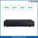 Telecontrollo NVR del H. 264 4CH 1080P Poe con l'allarme e l'audio