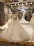 Linha luxuosa vestidos de Princess/A de casamento da união