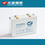 nachladbare gedichtete Leitungskabel 2V1000ah saure UPS-Batterie