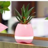 Potenciômetros de flor espertos da música do altofalante de Bluetooth para a decoração do escritório Home